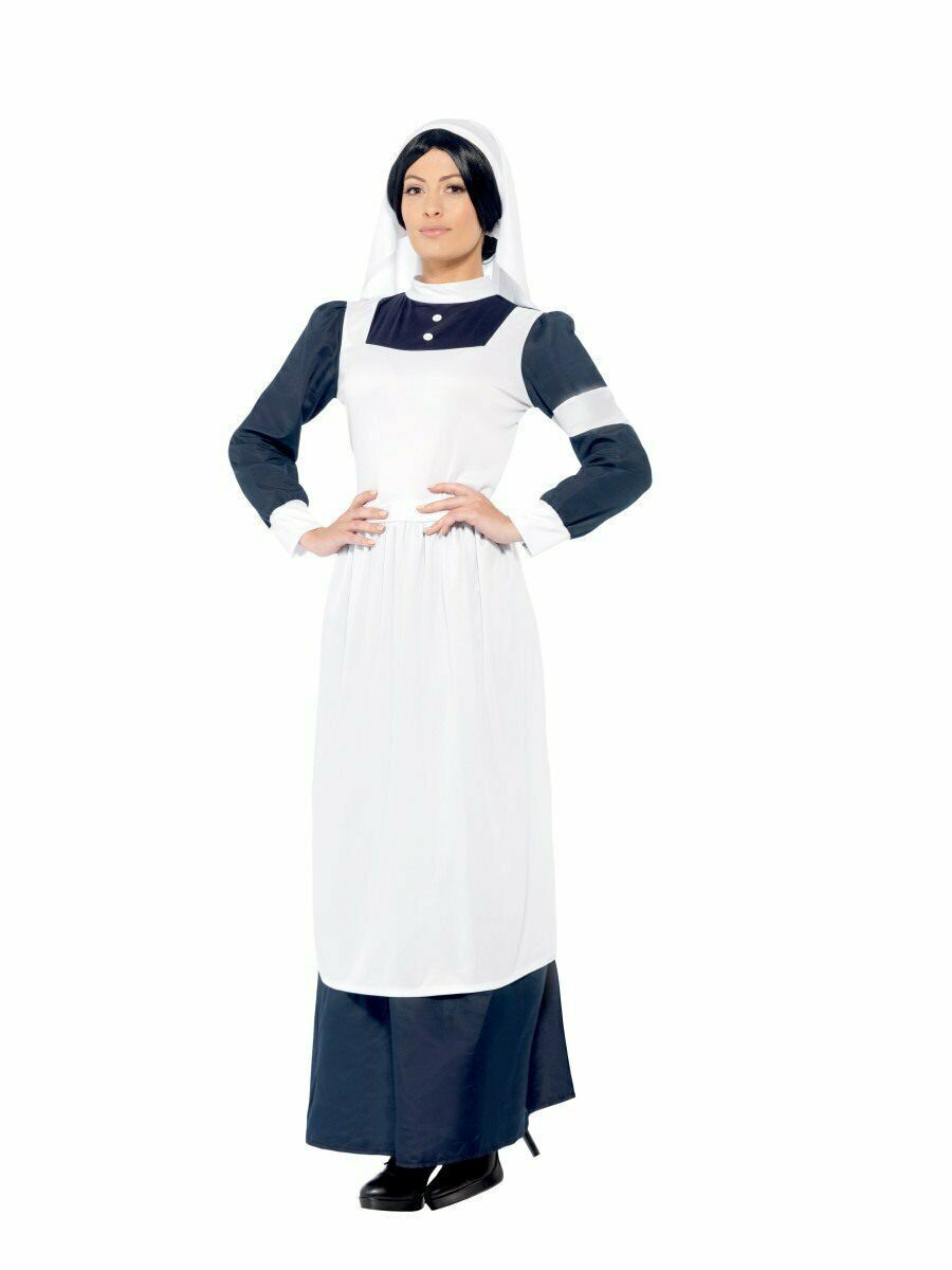 Smiffys Great Nurse WW1 WW2 1940s Florence Nightingale Halloween Costume 43430