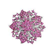 Ezing Fashion Jewelry Beautiful Silver Plated Rhinestone Crystal Brooch ... - $12.05