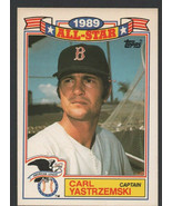 Boston Red Sox Carl Yastrzemski 1990 Topps Glossy All Star Insert Baseba... - $0.75