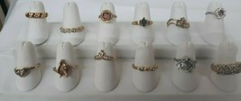 Lot of 12 Vintage RHINESTONE Ladies Rings Lot Sizes 4 to 8 GREAT COLORS - $94.95