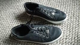 LIZ CLAIBORNE  WARWICK Women's Size 7M Sneakers  Lace-Up Black / White  - $19.30
