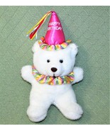 "Vintage 1992 Teddy Bear SUMMIT COLLECTION 13"" HAPPY BIRTHDAY Hat White P... - $23.36"