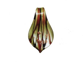 Translucent Green  Black & Brown Glass Pendant - $8.50