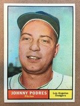 1961 Topps #109 Johnny Podres Baseball Card NM Condition Los Angeles Dod... - $9.99