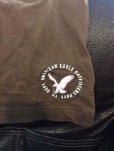 New American Eagle Outfitters  Brown Pink Maui Sheer Shirt Tee T  Medium Round - $13.97