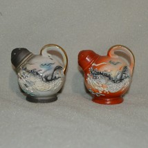 Moriage Dragon Jug Salt and Pepper Shaker Raised Paint S&P - $25.99
