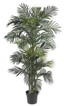 Nearly Natural 5289 Golden Cane Palm Silk Tree, 6.5-Feet, Green  - $167.64