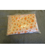 Handmade Crib Fitted  Sheet 100% cotton -Peach Flowered - $8.00