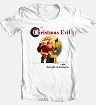 Christmas Evil T-shirt Free Shipping retro horror slasher movie cotton white tee image 2