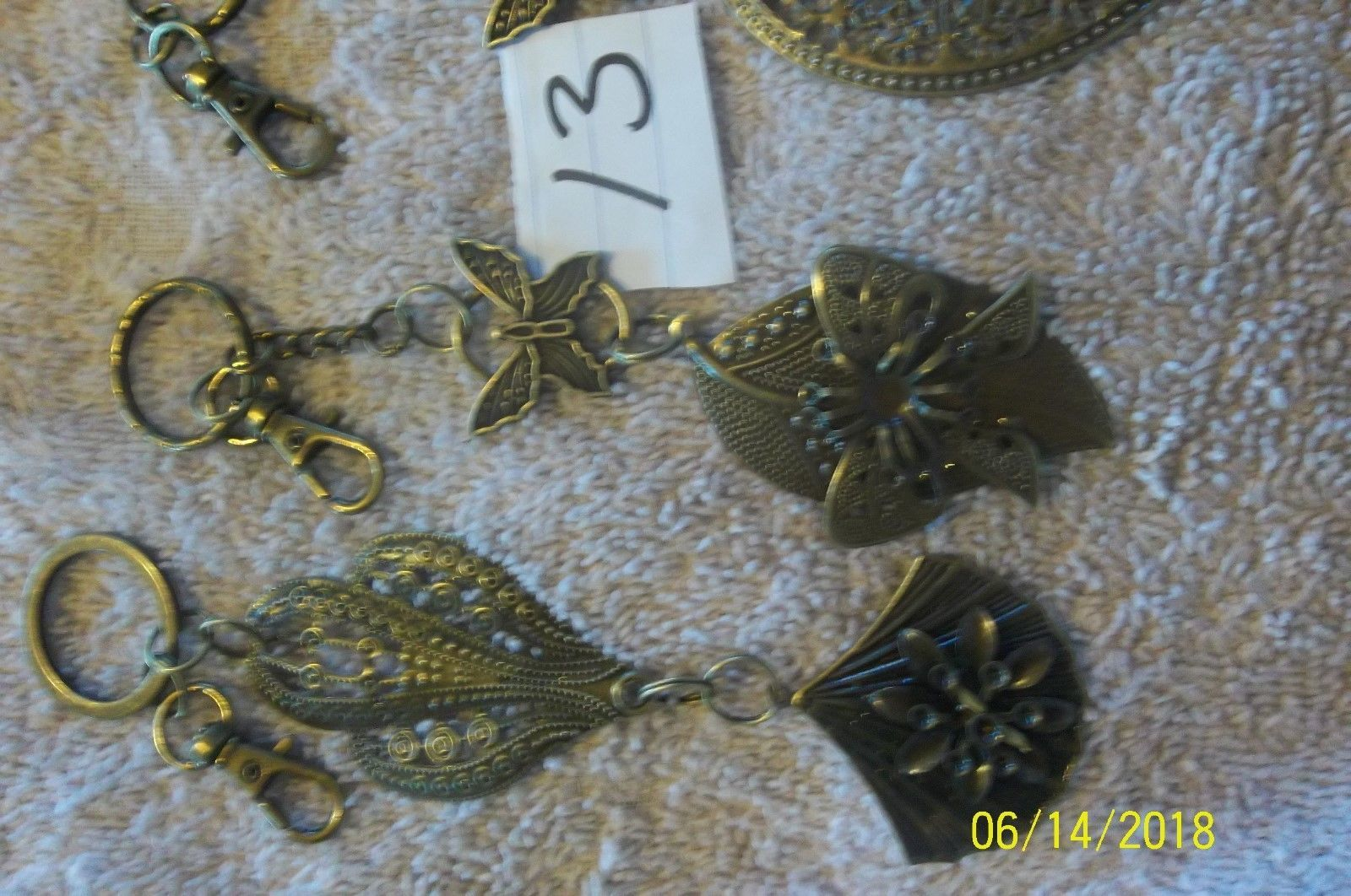 # purse jewelry bronze color keychain backpack dangle charms #13 lot of 3 image 3
