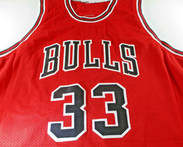 SCOTTIE PIPPEN / AUTOGRAPHED CHICAGO BULLS RED CUSTOM BASKETBALL JERSEY / COA image 2
