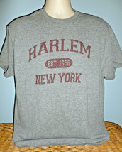 Vintage Style Distressed Harlem New York Gray T-Shirt Large L - $27.47