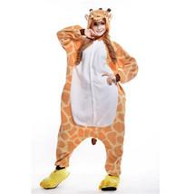 Adults' Kigurumi Pajamas Giraffe Onesie Pajamas Polar Fleece Orange Cosp... - $18.00