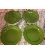 "Royal Norfolk 10 1/2"" Dinner Plates Set Of 4 Lime Green(New)SHIPS N 24H ... - $39.08"