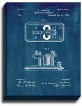 Telegraph Instrument Patent Print Midnight Blue on Canvas - $39.95+