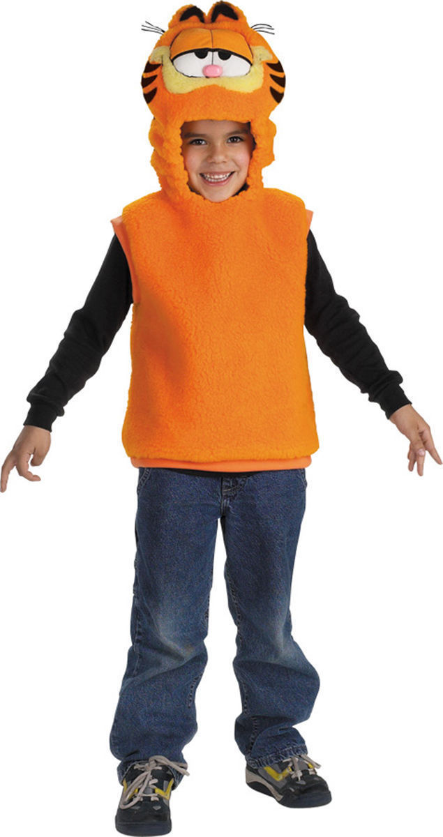 Boys Sleeveless Polyblend Garfield HALLOWEEN COSTUME Vest