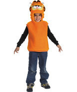 Boys Sleeveless Polyblend Garfield HALLOWEEN COSTUME Vest - £10.79 GBP