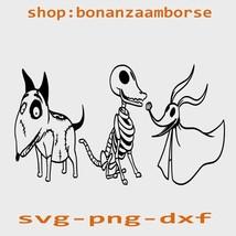 Frankenweenie, Corpse Bride, Nightmare Before Christmas SVG Png Dxf - $1.99