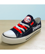 new york yankees shoes womens ny yankees sneakers baseball fashions canv... - $59.99+