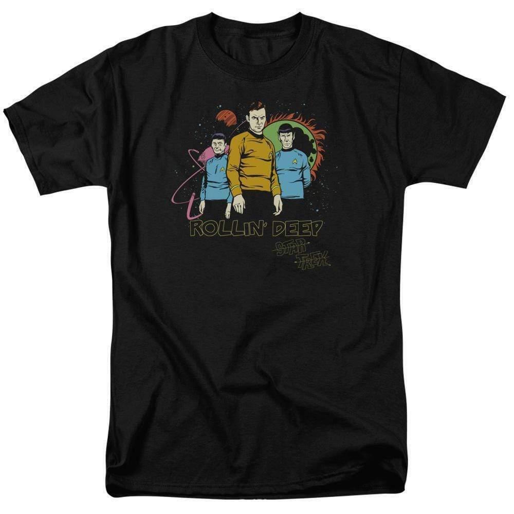 Star Trek t-shirt Rollin Deep animated sci-fi TV series graphic tee CBS955