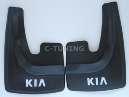 New Universal car mud flaps with KIA logos rear or front 3D custom snow ... - £22.80 GBP