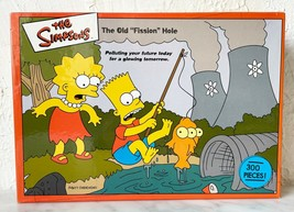 """The Simpsons The Old Fission Hole 300 Piece Jigsaw Puzzle 13"""" x 19""""  Complete - $18.95"""