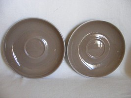 2 Winfield Desert Dawn Saucers Mid-Century Design California Pottery - $3.95