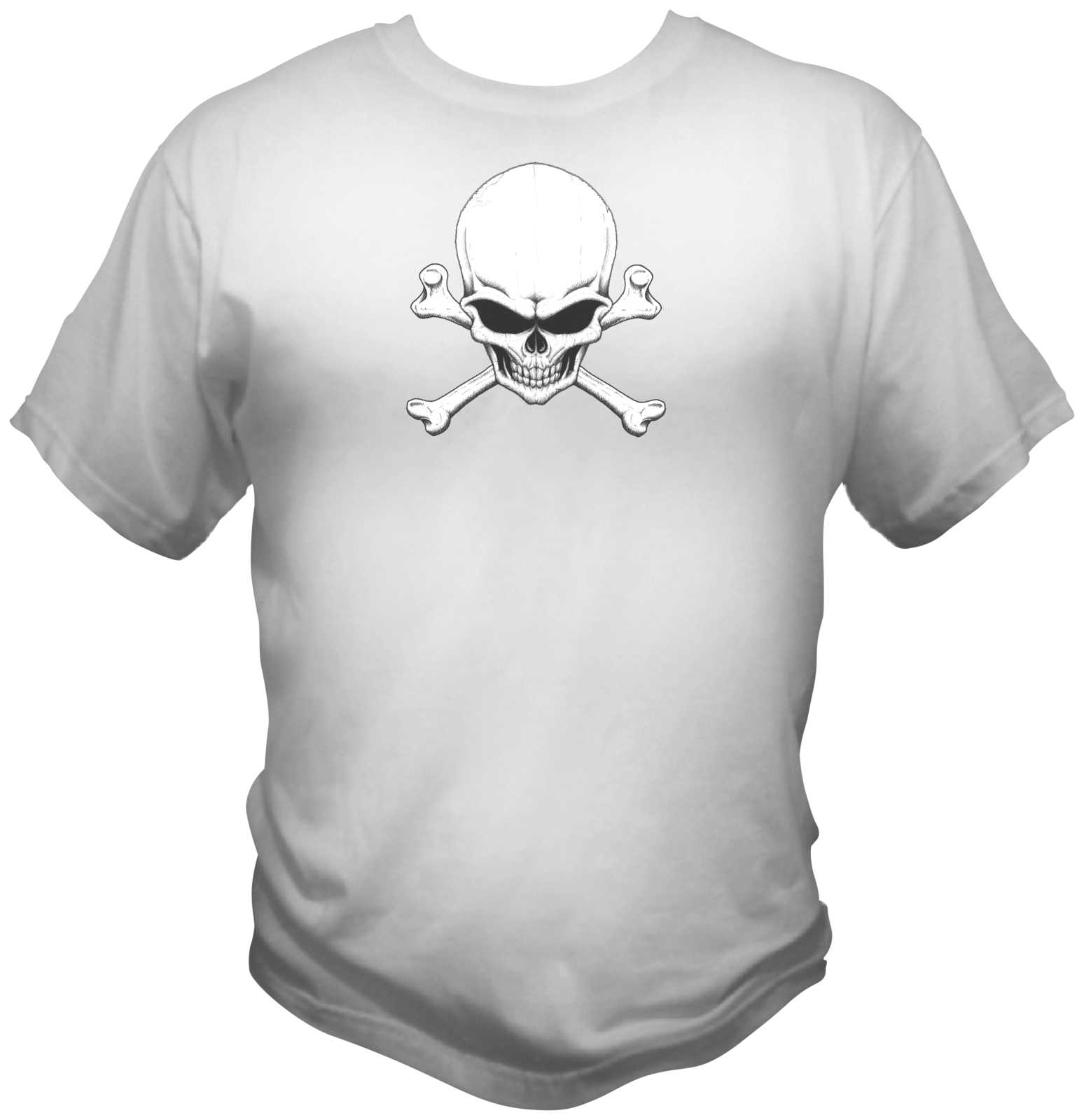 Skull And Cross Bones Style Graphic T Shirt Black Red White L XL 2XL