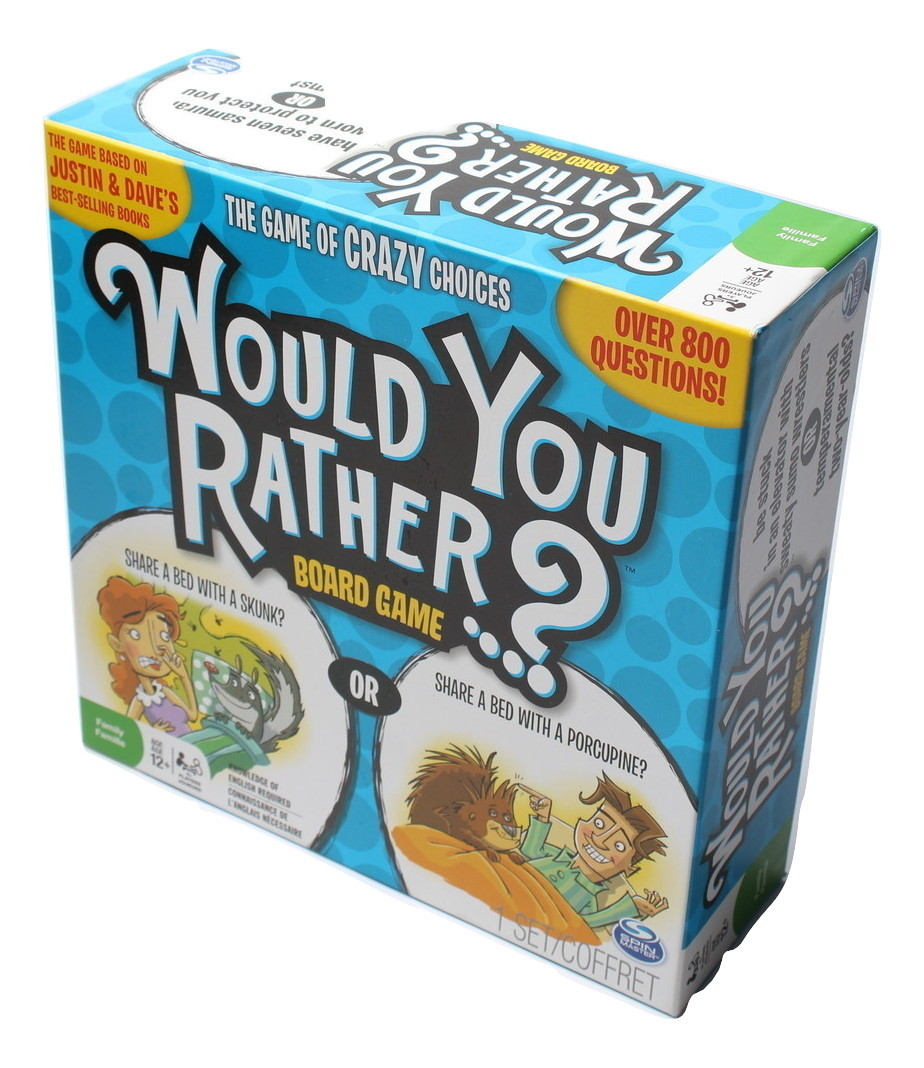 Spin Master Games - Would You Rather - Crazier Dilemmas Board Game Complete - $9.97