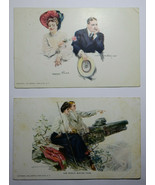 IT24 Lot of 4 Couples by Howard Christy Divided Back Postcards VG-EX - $9.90