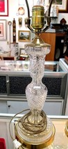 WATERFORD Vintage 1950's Cut Glass Lamp vgc & Complete - $251.75