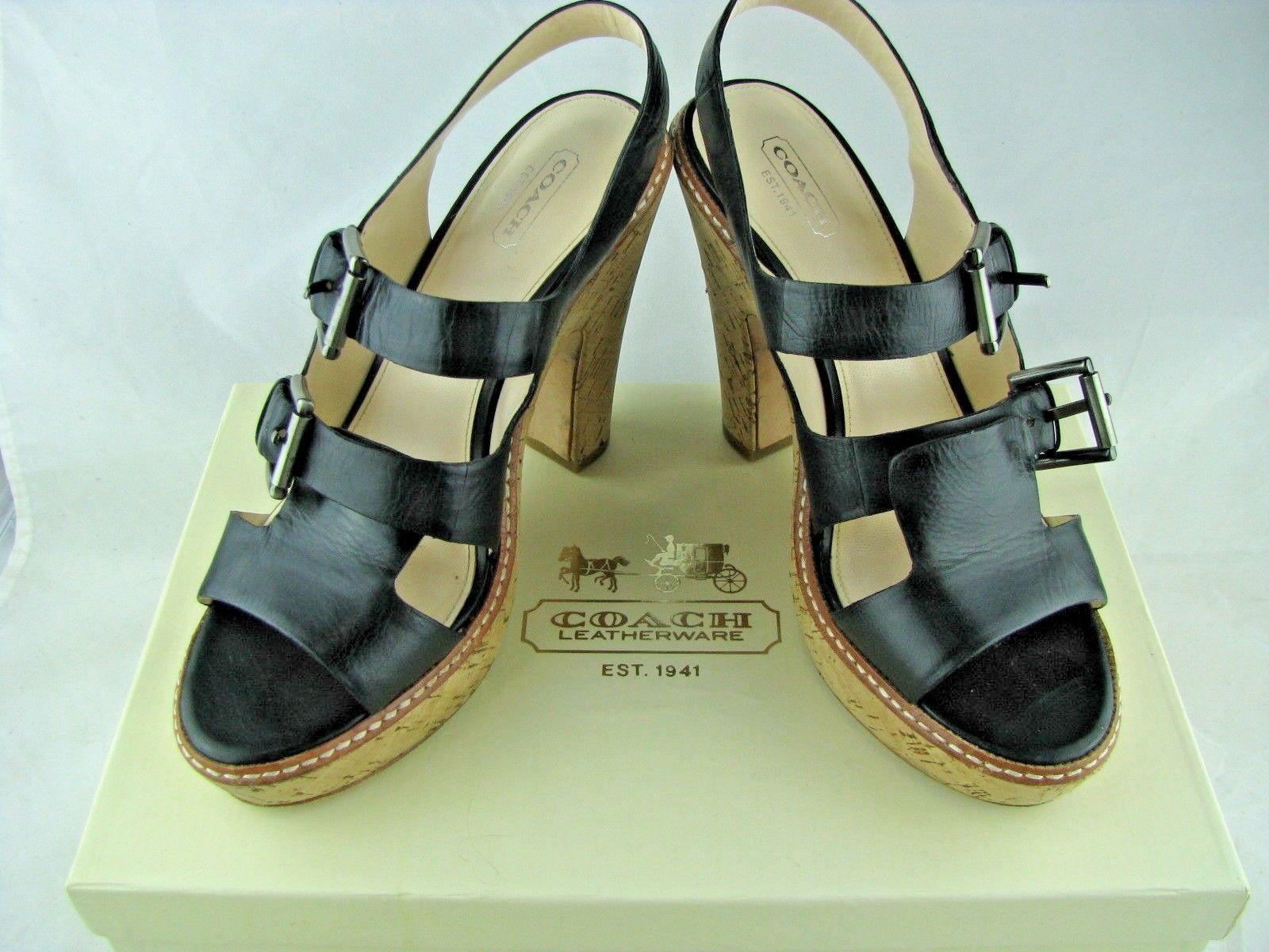 70d1b065fc Coach Katee Calf Leather Platform Heel and 50 similar items. 57