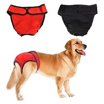 NACOCO 2 Pack Female Dog Diapers for Small Medium and Large Dogs, Adjust... - $14.25