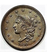 1839 Large Cent Braided Hair copper, Ships in 1 day from USA, Buy 1 get 1 Free - $2.95