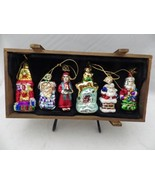 Thomas Pacconi 2004 Collection - 6 Christmas glass Ornaments - 30 year s... - $22.76