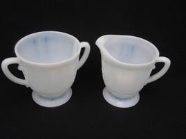 Vint MacBeth-Evans American Sweetheart Monax Opalescent Dep Glass Creame... - $14.99