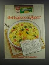 1991 Campbell's Cream of Mushroom Soup and Creamettes Ad - creamy macaroni - $14.99