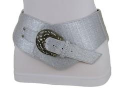 Sexy Damen Silber Kunstleder Breit West Cowgirls Mode Rodeo Gürtel Größe... - $31.31