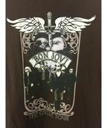 Jon Bon Jovi T-Shirt Concert: The Circle Tour Brown Graphic Band L 2010 - $35.00