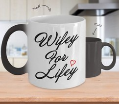 Wifey For Lifey-Anniversary Wedding Gifts for Wife Husband-Color Changin... - $18.55