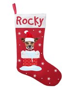 Jack Russell Terrier Christmas Stocking-Personalized Jack Russel Stockin... - $28.49+