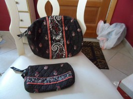 Vera Bradley set of  large and small cosmetics in retired Houndstooth pattern - $32.00