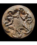 Pisces Zodiac Wall Relief Sculpture Plaque Replica - $75.24