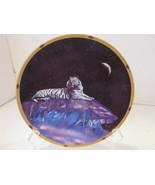 LENOX COLLECTOR PLATE CRYSTAL TIGER CRYSTAL HUNTER PLATE COLLECTION A0835  - $3.91