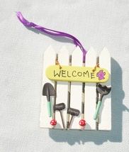 Gardening Themed Spring Ornament - Handmade Collectible Ornament - $14.99