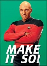 Star Trek: The Next Generation Make It So! Captain Picard Magnet NEW UNUSED - $3.99