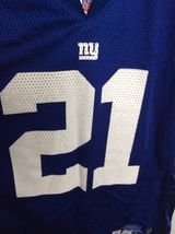 Reebok NFL New York Giants 21 Tiki Barber Football Jersey Blue Youth Large 14-16 image 3