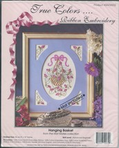 True Colors Ribbon Embroidery Hanging Basket Pattern Kit Mat Included 8 ... - $17.81