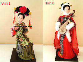 Handmade Silk Beauty Figurine Dolls by Top Handicraftsman,Size:29x10x10 cm - $129.00