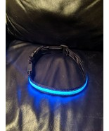 USB Rechargable LED Dog Collar Flashing Adjustable Safety Light Band Blue - $4.95
